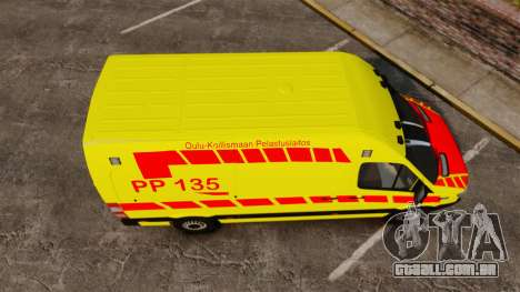 Mercedes-Benz Sprinter Finnish Ambulance [ELS] para GTA 4 vista direita
