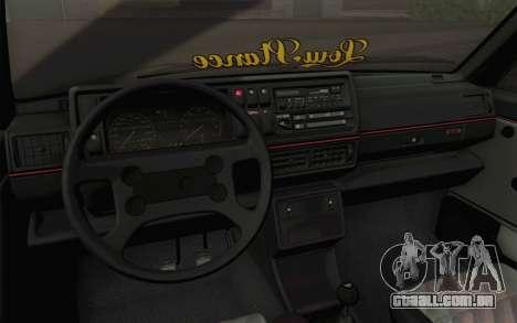 Volkswagen Golf MK2 LowStance para GTA San Andreas vista interior