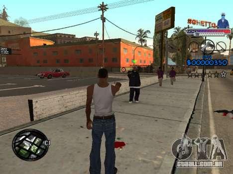 O novo C-HUD do Gueto para GTA San Andreas segunda tela