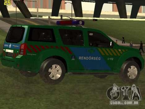 Nissan Pathfinder Police para vista lateral GTA San Andreas