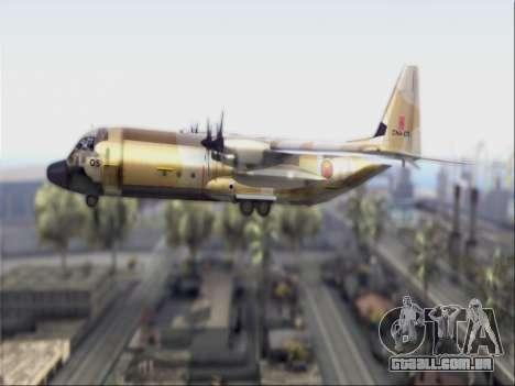 C-130 Hercules Royal Moroccan Air Force para GTA San Andreas traseira esquerda vista