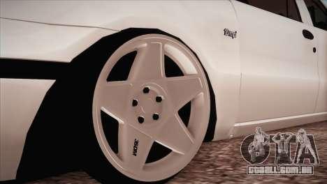 Fiat Palio BKModifiye para GTA San Andreas vista traseira