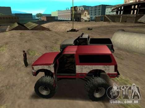 Street Monster para GTA San Andreas traseira esquerda vista