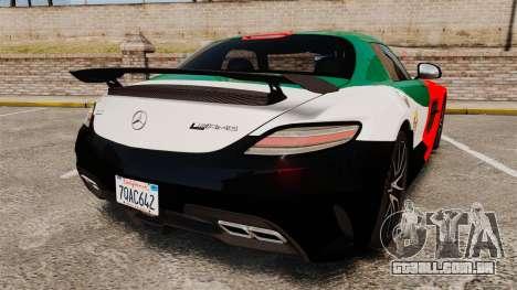 Mercedes-Benz SLS 2014 AMG UAE Theme para GTA 4 traseira esquerda vista