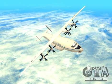 An-22 Antei para GTA San Andreas vista inferior