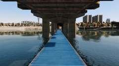 A estrada debaixo da ponte