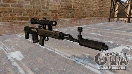 SVD sniper rifle reduzido para GTA 4