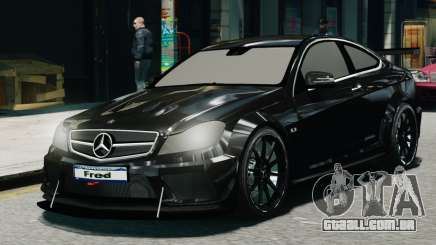 Mercedes-Benz C63 AMG Black Series 2012 para GTA 4