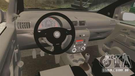 Volkswagen Fox para GTA 4 vista de volta
