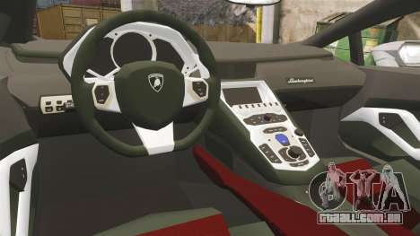 Lamborghini Huracan Hungarian Police [Non-ELS] para GTA 4 vista interior