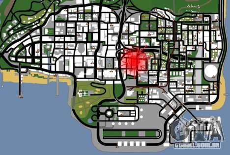 Textura Artium para GTA San Andreas quinto tela
