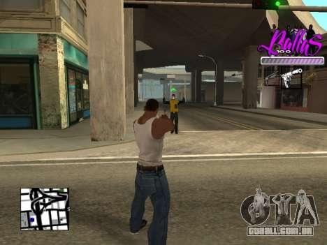 New HUD Ballas Style para GTA San Andreas terceira tela