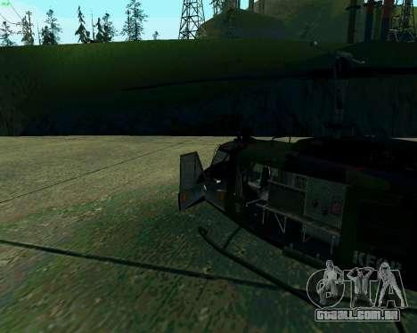 UH-1D Huey para GTA San Andreas esquerda vista