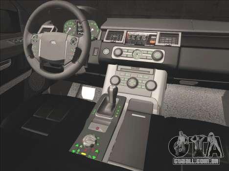 Range Rover Sport para GTA San Andreas vista inferior
