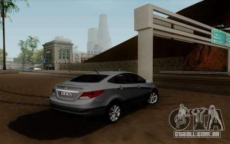 Hyundai Solaris para GTA San Andreas esquerda vista