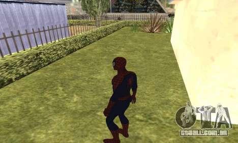 O novo homem-aranha para GTA San Andreas quinto tela