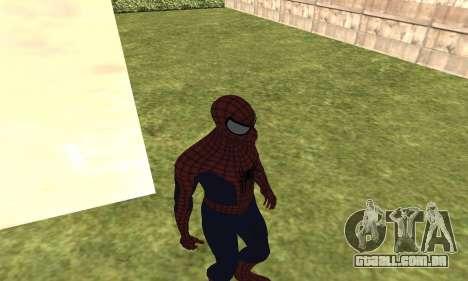 O novo homem-aranha para GTA San Andreas terceira tela
