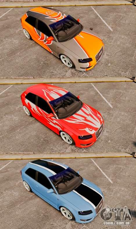 Audi S3 EmreAKIN Edition para GTA 4 vista lateral