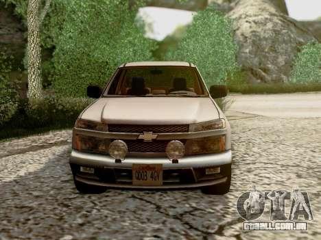 Chevrolet Colorado para GTA San Andreas vista inferior