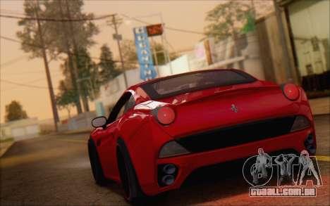 Ferrari California v2 para GTA San Andreas esquerda vista