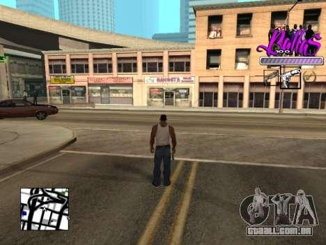 New HUD Ballas Style para GTA San Andreas segunda tela