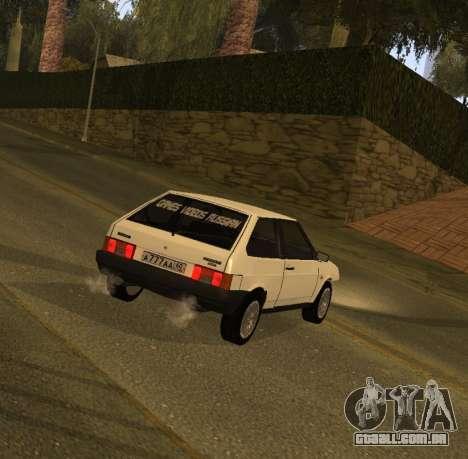 ВАЗ 2108 GVR Versão 1.2 para GTA San Andreas esquerda vista