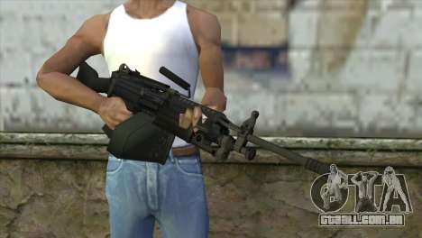 M249 SAW Machine Gun para GTA San Andreas terceira tela