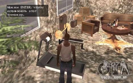 O porão da casa de Carl para GTA San Andreas sétima tela