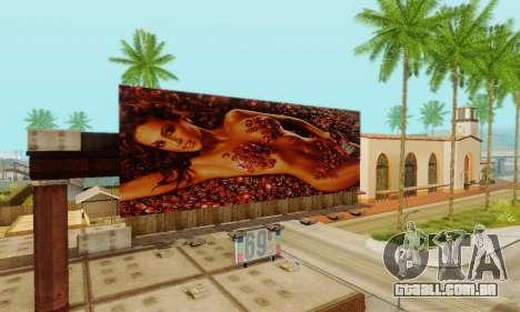 Novo de alta qualidade publicidade em cartazes para GTA San Andreas décima primeira imagem de tela