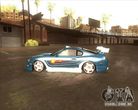 Toyota Supra из NFS Most Wanted para GTA San Andreas esquerda vista