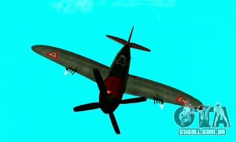 P-47 Thunderbolt para GTA San Andreas vista traseira