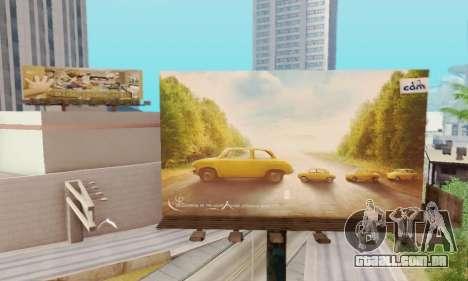 Novo de alta qualidade publicidade em cartazes para GTA San Andreas por diante tela