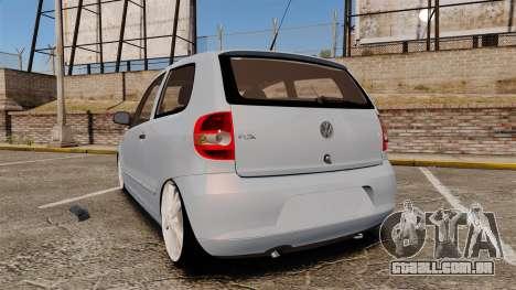 Volkswagen Fox para GTA 4 traseira esquerda vista