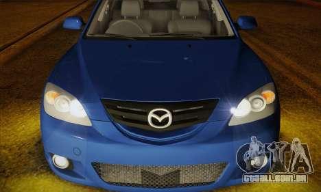 Mazda Axela Sport 2005 para GTA San Andreas vista traseira