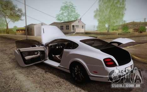 Bentley Continental SuperSports 2010 v2 Finale para o motor de GTA San Andreas