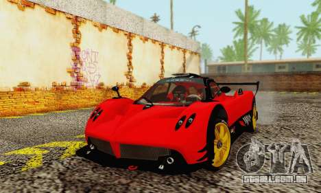 Pagani Zonda Type R Red para GTA San Andreas