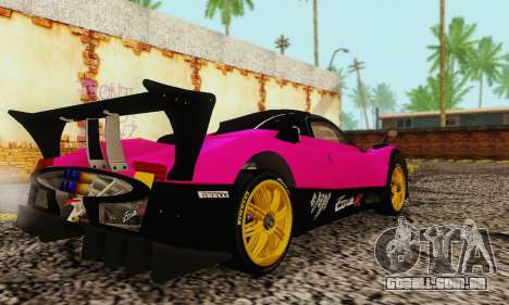 Pagani Zonda Type R Pink para GTA San Andreas traseira esquerda vista