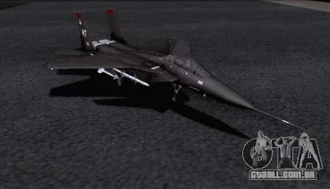 F-15S para GTA San Andreas traseira esquerda vista