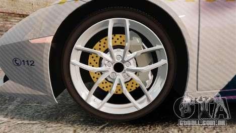 Lamborghini Huracan Hungarian Police [Non-ELS] para GTA 4 vista de volta