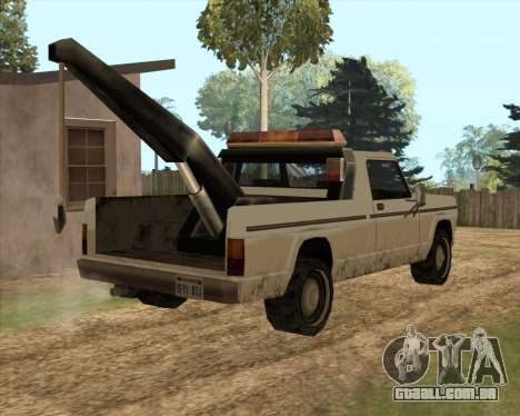Novo Reboque (Sadler) para GTA San Andreas traseira esquerda vista