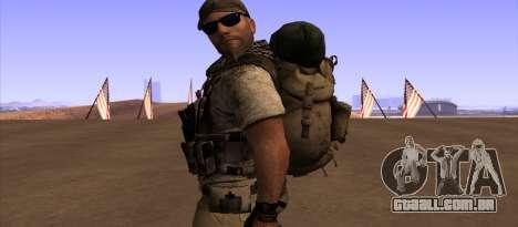Рюкзак из MOH Warfighter para GTA San Andreas terceira tela