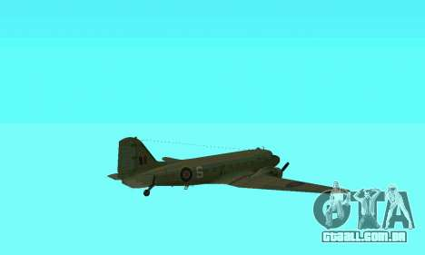 C-47 Dakota RAF para GTA San Andreas vista superior