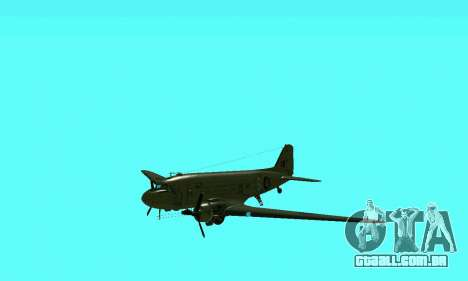 C-47 Dakota RAF para GTA San Andreas vista interior