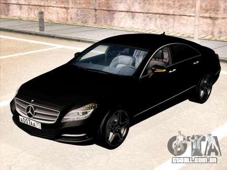 Mercedes-Benz CLS350 2012 para GTA San Andreas traseira esquerda vista