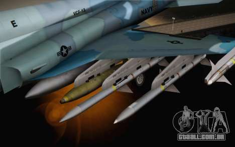 F-5E Tiger II para GTA San Andreas vista direita