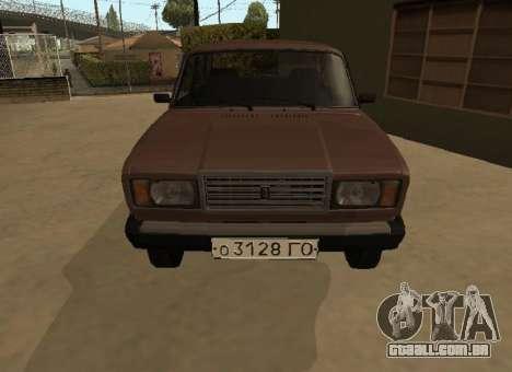 VAZ 2107 versão inicial para GTA San Andreas esquerda vista