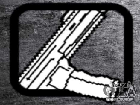 CZ805 para GTA San Andreas por diante tela