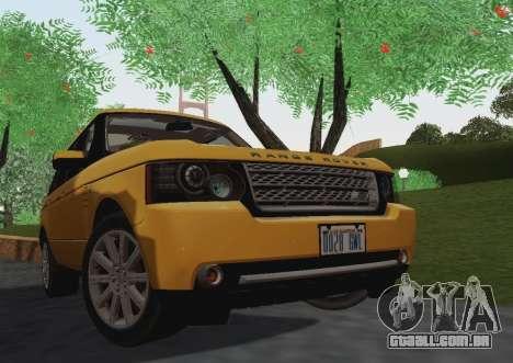Range Rover Supercharged Series III para GTA San Andreas esquerda vista