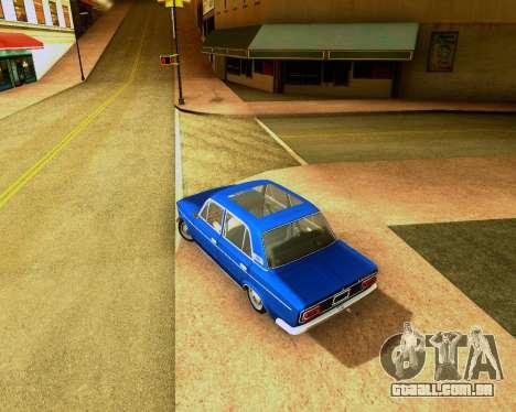 VAZ 2103 Tuneable para GTA San Andreas traseira esquerda vista