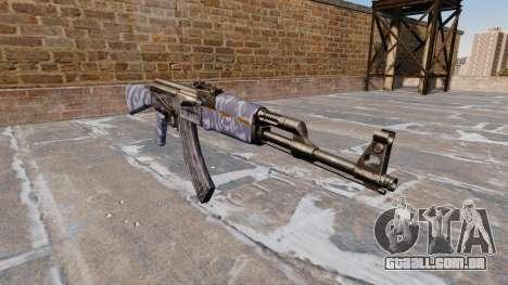 A AK-47 Camo Azul para GTA 4